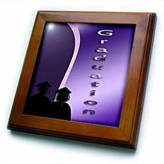 """2012 Graduates, Purple - 8x8 Framed Tile by Beverly Turner Photography. $22.99. Dimensions: 8"""" H x 8"""" W x 1/2"""" D. Keyhole in the back of frame allows for easy hanging.. Solid wood frame. Inset high gloss 6"""" x 6"""" ceramic tile.. Cherry Finish. 2012 Graduates, Purple Framed Tile is 8"""" x 8"""" with a 6"""" x 6"""" high gloss inset ceramic tile, surrounded by a solid wood frame with predrilled keyhole for easy wall mounting.. Save 15%!"""