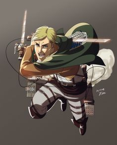 Erwin Smith  ❁ Attack On Titan  ❁ Shingeki No Kyojin