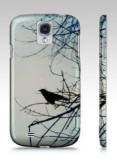 Samsung Galaxy S4 case Crow Art