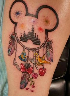 This is a cute tattoo idea, maybe replace the charms with your fav films.