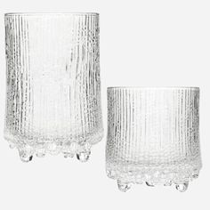 Ultima Thule glasses by Tapio Wirkkala for Iittala, Finland 1968. Also (more rarely) came in green.