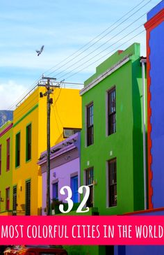 From classics like Bo Kaap, Cape Town to surprises like cities in Transylvania, this list will put colorful cities on your map! Read on to see more surprisingly bright and colorful cities - some in places you wouldn't expect!