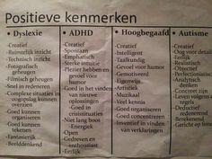 Positive characteristics of autism