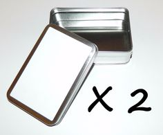 2 X 6oz Rectangular Blank White Label Slip-On Lid Metal Crafts Tin Container Box   Sporting Goods, Outdoor Sports, Camping & Hiking   eBay!