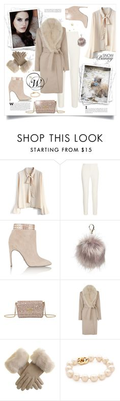 """Snow Bunny"" by oregonelegance ❤ liked on Polyvore featuring Chicwish, Roland Mouret, Sergio Rossi, Nila Anthony, Jimmy Choo and Warehouse"