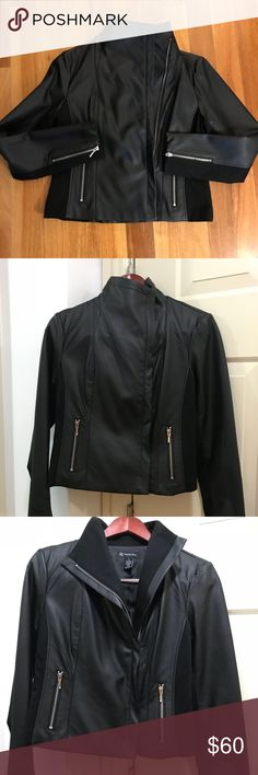 INC International Concepts Faux Leather Jacket INC International Concepts Faux -Leather Moto Jacket Created for Macy's NWOT Size: Small INC International Concepts Jackets & Coats