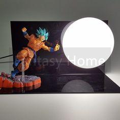 Dragon Ball Z Action Figure Son Goku Resurrection F DIY Display Toy Dragonball Z Blue Goku Dragon DBZ+Base +Bulb DIY33