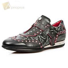 Sneaker Echt Leder 3cm Unisex Handarbeit Custom Made Damen Herren Blau Rot