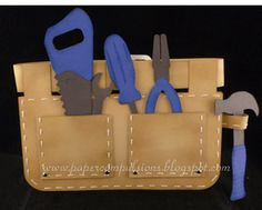 Paper Compulsions: Toolbelt card and jeans pocket card