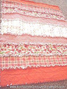 Cute rag quilt! DIY.