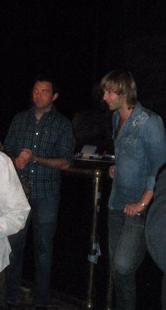 Ryan Kelly and Keith Harkin at a Meet and Greet... Celtic Thunder