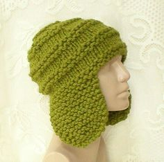 54c099f500234e Green ear flap hat trapper cap green beanie hat citrus kiwi green hat mens  womens winter hat green knit hat mens womens beanie hat toque