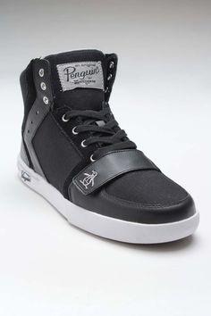 Penguin Footwear Moby Hi Sneaker Black/Silver