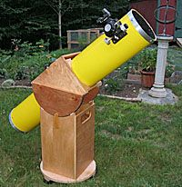 "DIY Dobsonian Telescope - already made a 4 1/4"" from a kit"