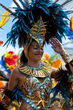 carnival in Rio, Brazil.  I got to be a part of Carnival in Aruba- it was so fun!