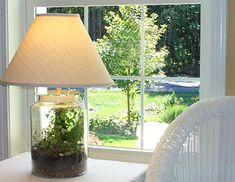 Repurpose and combine two functions in one with a terrarium lamp!