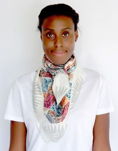 Quilt Silk Twill Scarf designed by Emerald Grippa