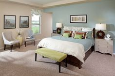blue paint colors for bedroom in cozy feeling