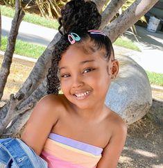 Cute Black Babies, Black Baby Girls, Beautiful Black Babies, Cute Baby Girl, Girls Natural Hairstyles, Baby Girl Hairstyles, Baddie Hairstyles, Cute Hairstyles, Braided Hairstyles