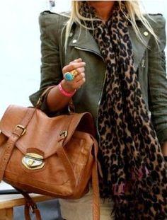 leopard print scarf | Tumblr