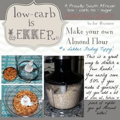 Low Carb is lekker Almond Flour Banting Diet, Banting Recipes, Diabetic Recipes, Low Carb Recipes, Real Food Recipes, Lchf, Banting Bread, Healthy Recipes, Free Recipes