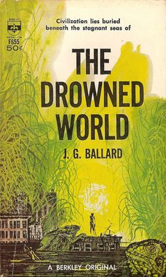 The Drowned World, art by Richard M. Powers, book cover