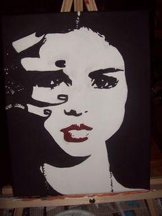 Selena Gomez - acrylic paint