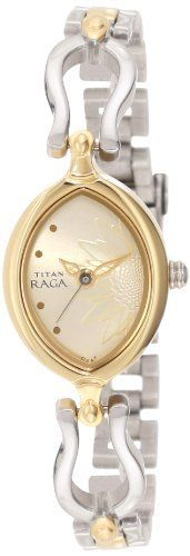 Titan Women's 2370BM05 Raga Inspired Two Tone Watch Titan. Save 20 Off!. $96.00. Jewelry style watch. Petite design for any woman. Water-resistant to 30 M (99 feet). Mineral crystal. Precision quartz watch