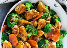 Ingredients       1 tablespoon + 1 teaspoon vegetable oil divided use   1 cup thinly sliced peeled carrots   2 cups broccoli florets   1 lb boneless skinless chicken breasts, cut into 1 inch pieces   4 cloves garlic minced