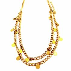 Gold Disc Anklet-£3.50 prettytwisted #jewellery #anklet #gold #disc http://www.prettytwistedonline.co.uk/product/gold-disk-anklet/