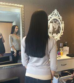 black hair straight cut