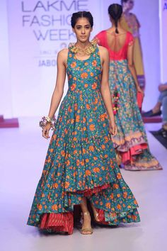 awesome Jabong Presented 'Sangria' The Vibrant Fusion Collection At Jabong Stage During Lakmé Fashion Week Winter/Festive 2015 Lakme Fashion Week, India Fashion, Ethnic Fashion, Asian Fashion, Indian Attire, Indian Ethnic Wear, Indian Dresses, Indian Outfits, Anarkali