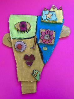 À la manière de Kimmy Cantrell  5ème année Cardboard Art, Tree Branches, Collage Art, Art Projects, Art Pieces, How To Make, Arts Plastiques, Visual Arts, Africa