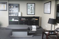 Now this is what a Chiropractor's Office should look like! --- Cornerstone Health Clinic Adjusting Room
