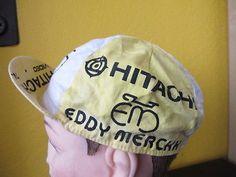 HITACHI MAVIC EDDY MERCKX  PROTEAM  HAT CAP CYCLING GENUINE VINTAGE