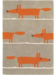 Wollteppich Mr Fox Taupe