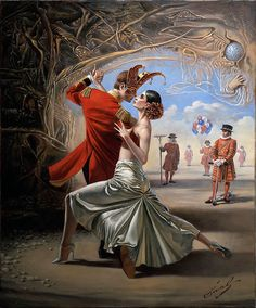 """Royal Tango"" by Michael Cheval -Original Oil on Canvas 20 x 16"