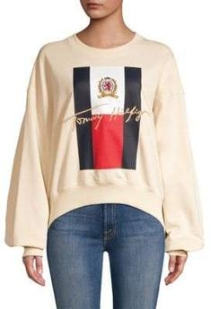 6e6faf5ae4ba Tommy Hilfiger Collection Tommy Hilfiger Collection Women s Oversized  Sleeve College Sweater - Navajo - Size XL