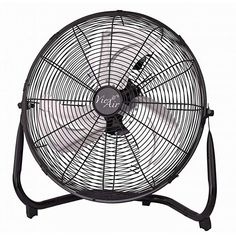 This powerhouse fan converts easily from floor to wall-mount use with handle design. 1 x floor fan. Wall mount or floor stand. 1 x Floor Fan. High-quality motor which has long life and low noise. Best Floor Fan, Floor Fans, High Velocity Fan, Cool Works, Pergola, Industrial Fan, Pedestal Fan, Metal Fan, Metal Floor