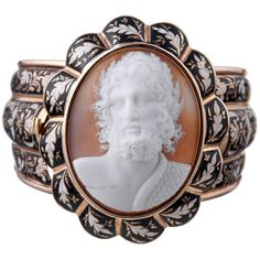 """Preowned Museum Quality Victorian Enamel """"zeus"""" Cameo Bracelet (559.700 RUB) ❤ liked on Polyvore featuring jewelry, bracelets, multiple, victorian bangle, pre owned jewelry, victorian jewelry, cameo jewelry and enamel bangle"""