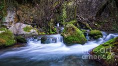 Cadiz Spain, Waterfall, River, Spaces, Stock Photos, Outdoor, Image, Japanese Painting, Outdoors