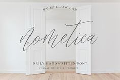 Nometica by Mellow Design Lab on @creativemarket