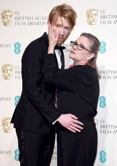 And presenting us with some pretty incredible photos. | Carrie Fisher And Domhnall Gleeson Totally Stole The Show Backstage At The BAFTAs