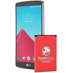 Batterie Powerbear G4 | Batterie de 3000mah Li-Ion pour LG G4 [H815, H815TR, H811] | Batterie de Remplacement G4 [24 Mois Garantie]:…