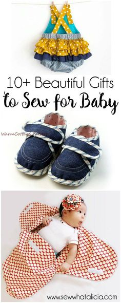 10+ Beautiful Gifts to Sew for Baby: Nothing is sweeter than sewing a handmade gift for a baby shower or new baby. Here are some adorable patterns for gifts to sew for baby. Click through for a full collection of patterns. | www.sewwhatalicia...