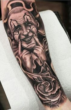 jeepsayyu - 0 results for tattoos Gangsta Tattoos, Dope Tattoos, Cool Forearm Tattoos, Bild Tattoos, Chicanas Tattoo, Clown Tattoo, Money Tattoo, Tattoo Life, Chicano Tattoos Sleeve