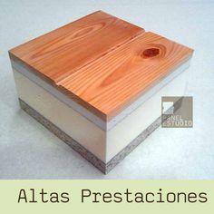 Panel sandwich de madera para cubiertas de Altas Prestaciones Abeto CartónYeso XPS Aglomerado Hidrófugo.