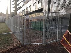 High Galvanized With Top, Middle & Bottom Rails & Single Swing Access by Address: 322 Horner Avenue, Ph: Fence Gate, Fencing, Chain Link Fence Installation, Single Swing, Gates, Ontario, Ph, Middle, Canada