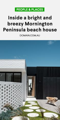 This beautifully designed beach home belongs to Lou De Mattia and Ross Nichols, owners of nearby lifestyle and furniture mecca, Coastal Living. House Cladding, Facade House, Bronte House, Rochdale, Cairns, Mid Century House, Home Reno, House Goals, House Front
