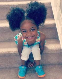 Cutie with Afro Puffs Natural Hairstyles For Kids, Little Girl Hairstyles, Toddler Hairstyles, Amazing Hairstyles, Beautiful Black Babies, Beautiful Children, Curly Hair Styles, Natural Hair Styles, Hair Tips